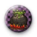Witches Cauldron Button Badge