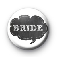 Chalkboard Bride Wedding Badges
