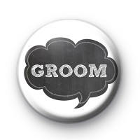 Chalkboard Groom Wedding Badges