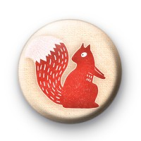 Cheeky Red Squirrel Button Badges