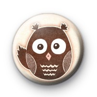 Cheeky Wise Owl Button Badge