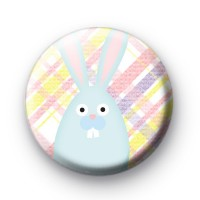Cheeky Blue Easter Bunny Badge thumbnail