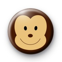 Cheeky Monkey Face Button Badge