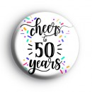 Cheers To 50 Years Badge