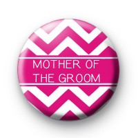 Chevron Pink Mother of the Groom Badge