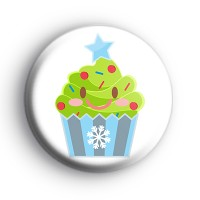 Festive Cupcake Xmas Tree Badge thumbnail