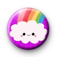 Cloudy Smiley Rainbow Badge