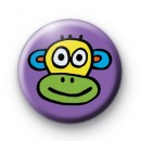 Cute Colourful Cheeky Monkey Badge