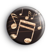 Old School Musical Notes Badge