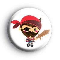 Cool Pirate Boy Button Badge