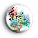 Cool Rainbow Musical Notes Badge