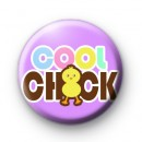 Cool Chick Purple Button Badge
