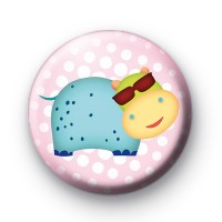 Cool Dude Hippo Button Badges