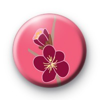 Coral Blossom Button Badges