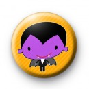 Purple Count Dracula Halloween Badge