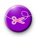 Purple Craft scissors badges
