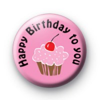 Cupcake Birthday Badge