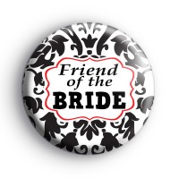 Black and Red Custom Of The Bride Badge