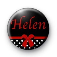 Red Bow Name Badge
