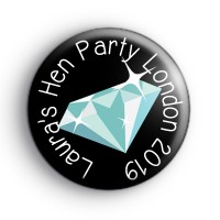 Custom Diamond Hen Party Badge