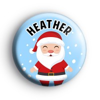 Custom Jolly Santa Claus Name Badge