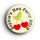 Cute Cherry Custom Hen Party Badges