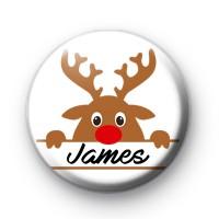 custom rudolph christmas name badge kool badges 25mm button badges