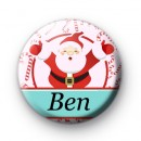 Custom Santa Candy Cane Name Badge
