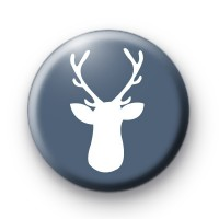 Cute Blue Stag's Head Badge
