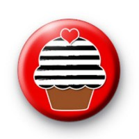 Cute Emo CupCake Badge