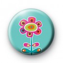 Kitsch Blue Flower Badge