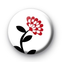 Red Poppy Stem Flower Badge