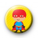 Cute Red Superhero Button Badges