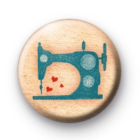 Cute Sewing Machine Button Badges