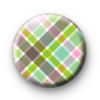 Cute plaid pattern badge