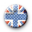 Dotty Union Jack Flag Postcard Badge