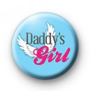Daddys Girl button badge