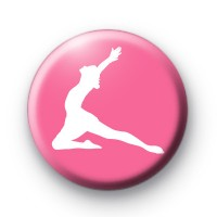 Pink Dancer Button Badge