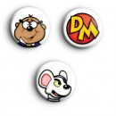 Set of 3 Danger Mouse Badges
