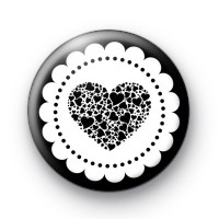 Dark Black Heart Badge