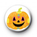 Day Of The Dead Halloween Pumpkin Badge