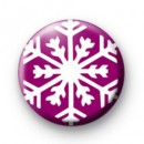 Deep purple Snowflake Badge
