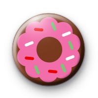Delicious Pink Doughnut Badge