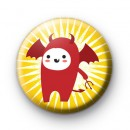 Devil At Halloween Badge