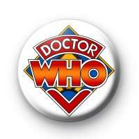 Doctor Who Logo Button Badges