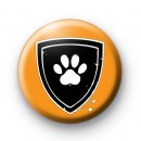 Dog Paw Sheild Button Badges