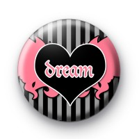Dream Heart With Wings Badges