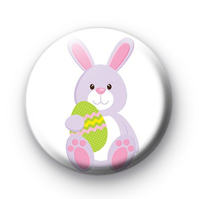 Pink Easter Bunny Eggs badge