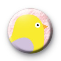 Easter Chicky Chick Yellow Badge