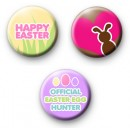 Set of 3 Easter Button Badges